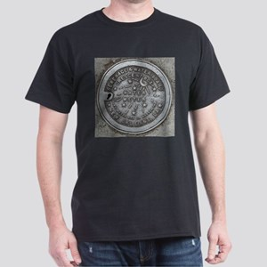 Water Meter Lid Black T-Shirt