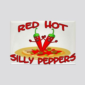 Red Hot Silly Peppers Rectangle Magnet
