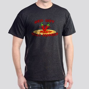 Red Hot Silly Peppers Dark T-Shirt
