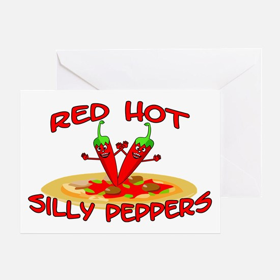 Red Hot Silly Peppers Greeting Card
