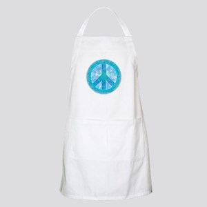 Peace Sign Blue BBQ Apron