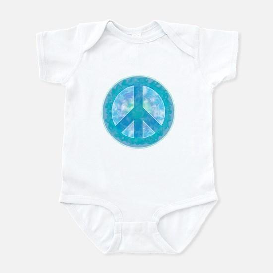 Peace Sign Blue Infant Bodysuit