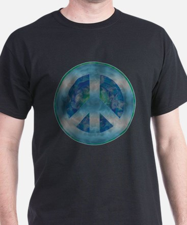 Peace Sign Blue 2 T-Shirt