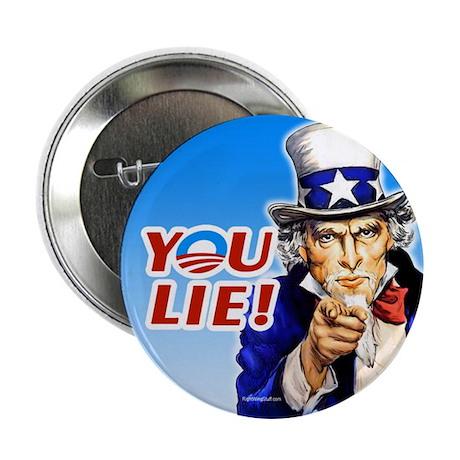 "Uncle Sam - You Lie! 2.25"" Button (100 pack)"