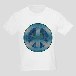 Peace Sign Blue 2 Kids Light T-Shirt