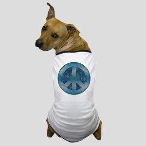 Peace Sign Blue 2 Dog T-Shirt