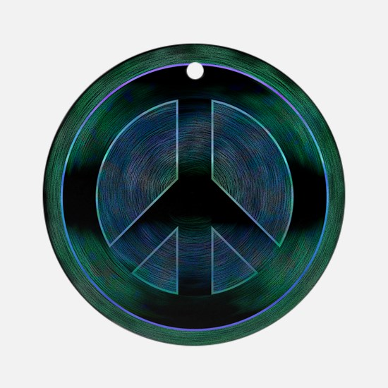Peace Sign Noir Ornament (Round)