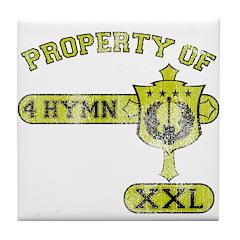 Property of 4 Hymn - Mustard Tile Coaster