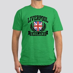 Liverpool England Men's Fitted T-Shirt (dark)