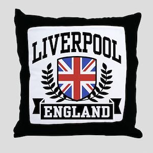 Liverpool England Throw Pillow