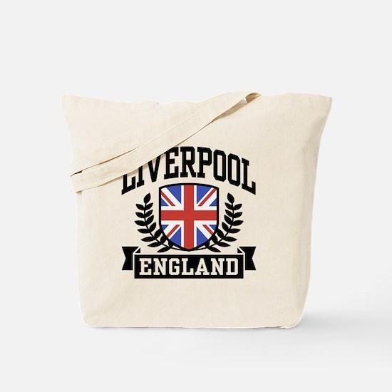 Liverpool England Tote Bag