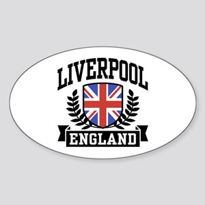 Liverpool England Oval Sticker