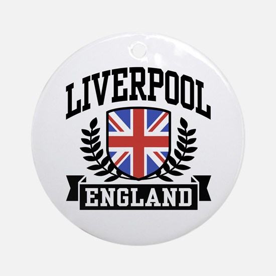 Liverpool England Ornament (Round)