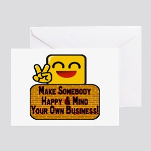 Mind Your Business Greeting Card