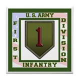 1st infantry division Tile Coasters