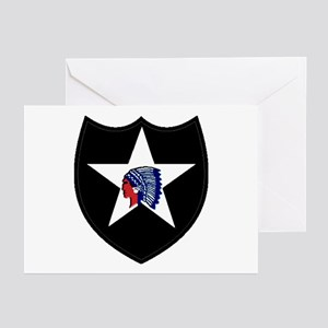 2nd Infantry Division Greeting Cards (Pk of 10