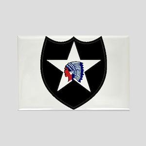 2nd Infantry Division Rectangle Magnet