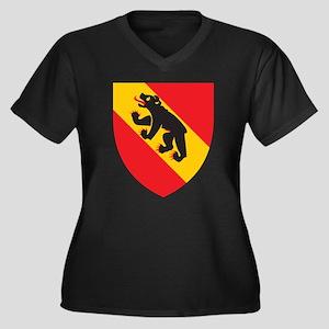 Bern Coat Of Arms Women's Plus Size V-Neck Dark T-