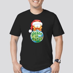 Peace On Earth Garfield Men's Fitted T-Shirt (dark