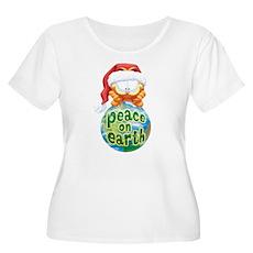 Peace On Earth Garfield Women's Plus Size Scoop Ne