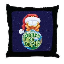 Peace On Earth Garfield Throw Pillow
