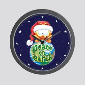 Peace On Earth Garfield Wall Clock