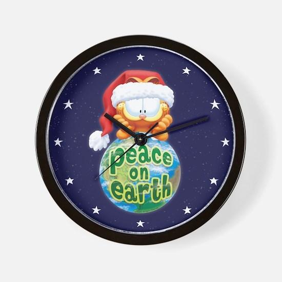 Peace On Earth Garfield Wall Clock