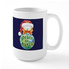 Peace On Earth Garfield Large Mug