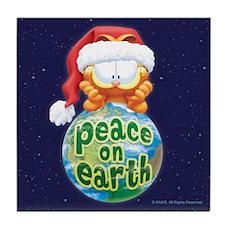 Peace On Earth Garfield Tile Coaster