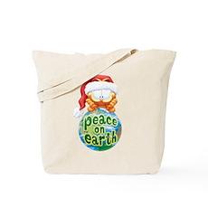 Peace On Earth Garfield Tote Bag