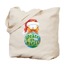 Peace On Earth Garfield Tote Bag