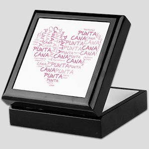 Word Up Heart Punta Cana Keepsake Box
