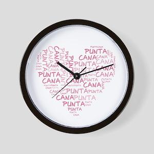 Word Up Heart Punta Cana Wall Clock