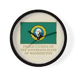 Washington Proud Citizen Wall Clock
