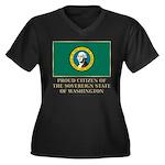 Washington Proud Citizen Women's Plus Size V-Neck