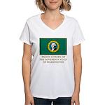 Washington Proud Citizen Women's V-Neck T-Shirt