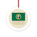 Washington Proud Citizen Ornament (Round)