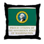 Washington Proud Citizen Throw Pillow