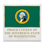 Washington Proud Citizen Tile Coaster