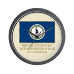 Virginia Proud Citizen Wall Clock