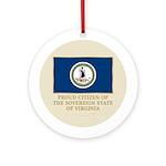 Virginia Proud Citizen Ornament (Round)
