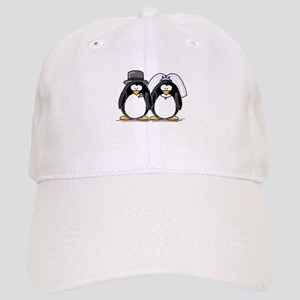 Bride and Groom Penguins Cap