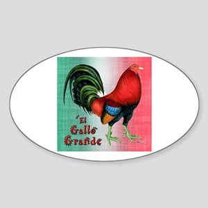 El Gallo Grande Oval Sticker