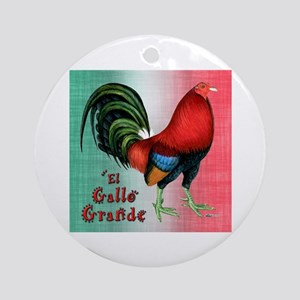 El Gallo Grande Ornament (Round)