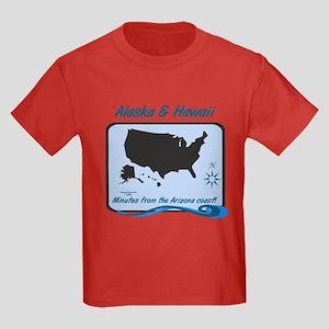 Alaska and Hawaii Funny Kids Dark T-Shirt