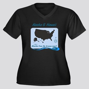 Alaska and Hawaii Funny Women's Plus Size V-Neck D