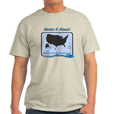 Alaska and Hawaii Funny Light T-Shirt