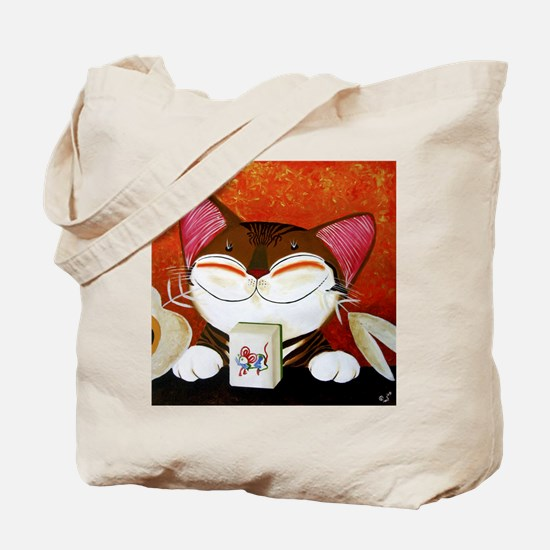 CAT ART ~ The Winning Tile Tote Bag