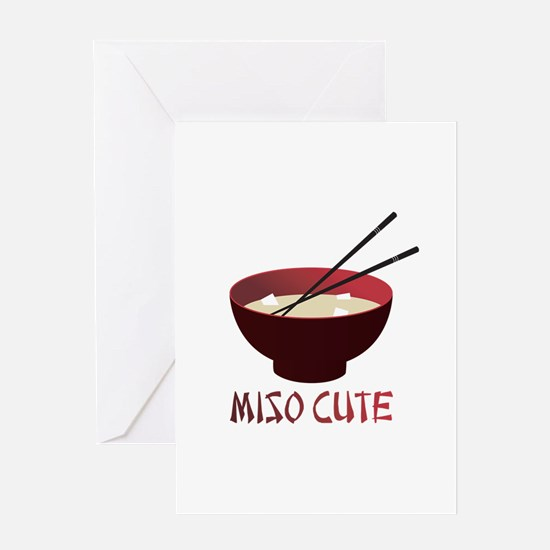 Miso Cute Greeting Card