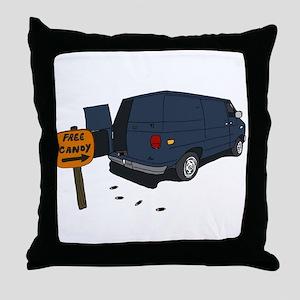 Funny Windowless Van Throw Pillow